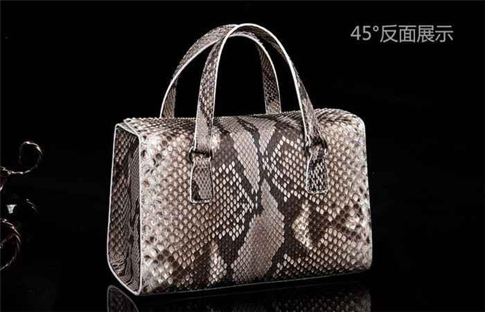 Genuine Python Snakeskin Leather Bags Luxury Women Handbags Ladies Fashion Handbags