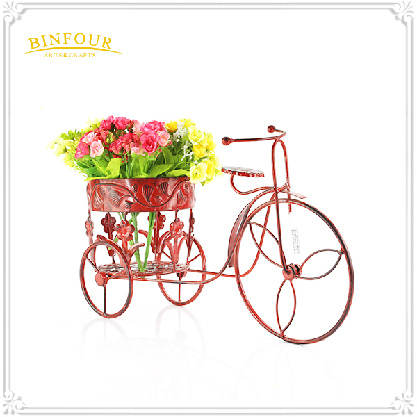 bicycle planter flower garden pot plant decor home metal iron