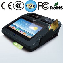 "7"" touch screen tablet android cash register pos with printer and bluetooth"