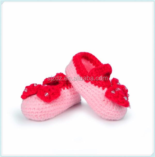 Zapatos Mary Jane Del Bebé Del Ganchillo Botines De Bebé Recién ...