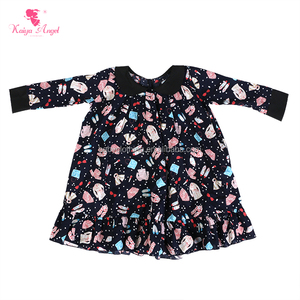 children frocks designs long Sleeve floral dress in Fashion baby Girls dress