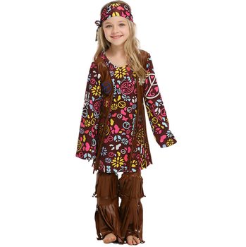 factory direct sale children party indian costume for girl
