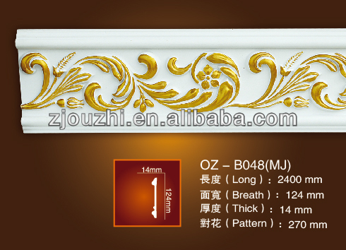 Pu Carving Flat Panel For Ceiling Corner