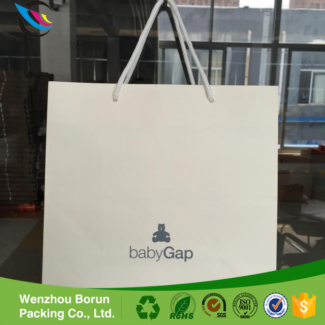 Borun succinct style baby and children shopping paper bag