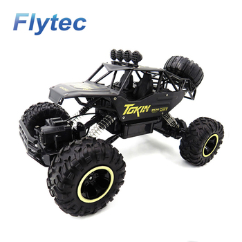 Flytec 6026E Remote Car 4WD Off-Road Buggy RC Climbing Car Alloy Climbing Car Remote Control Toy Black