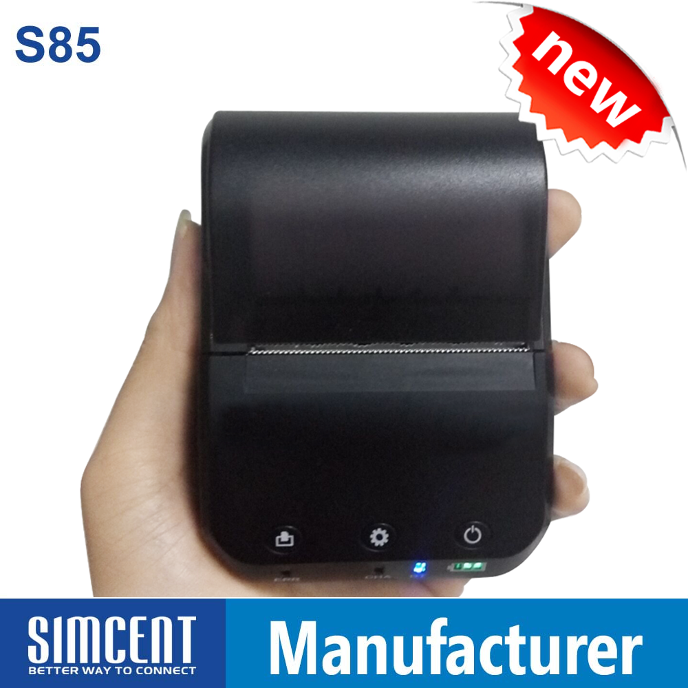 Mini Wireless 2 Iinch Mobile Thermal Bluetooth Invoice Printer for Android IOS