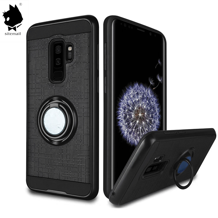 360 Degree Ring Kickstand Tpu pc Mobile Phone Cover Case For Samsung S9 Case