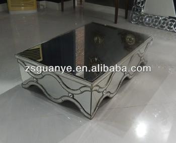 Crystal Diamond Mirror Coffee Table