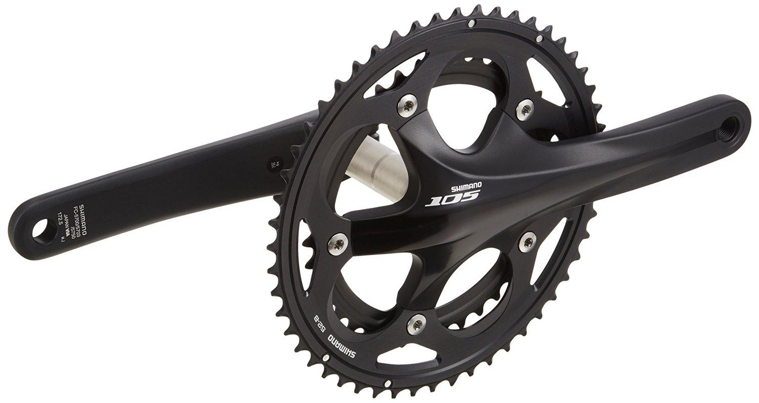 CHAINRING 52T Shimano 105 FC5700L BLACK DOUBLE 2 X 10 Outer Chainring B-Type