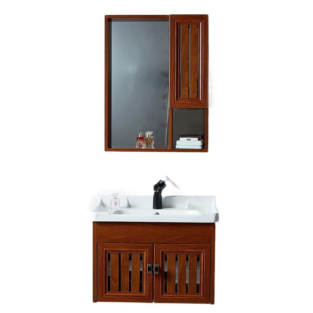 Wash Basin Cabinet And Mirrors Antique Waterproof Under Sink Bathroom