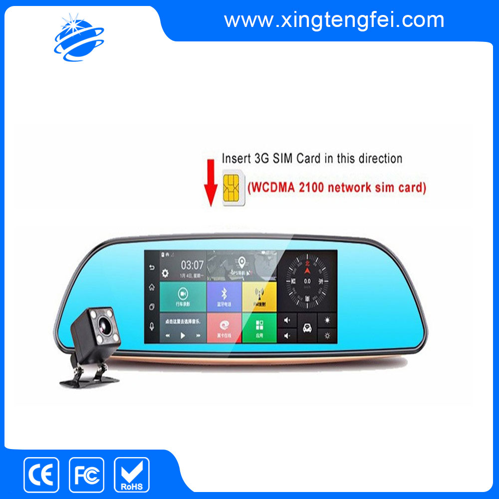 New brand 2017 gps rearview mirror car dvr in China