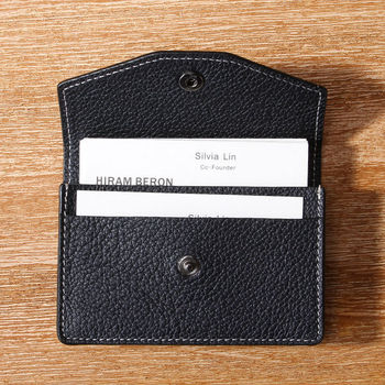 personalized genuine business card holder custom made italian leather name card holder mens - Personalized Card Holder