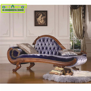 OE-FASHION High end classic home furniture baroque royalty chaise lounge