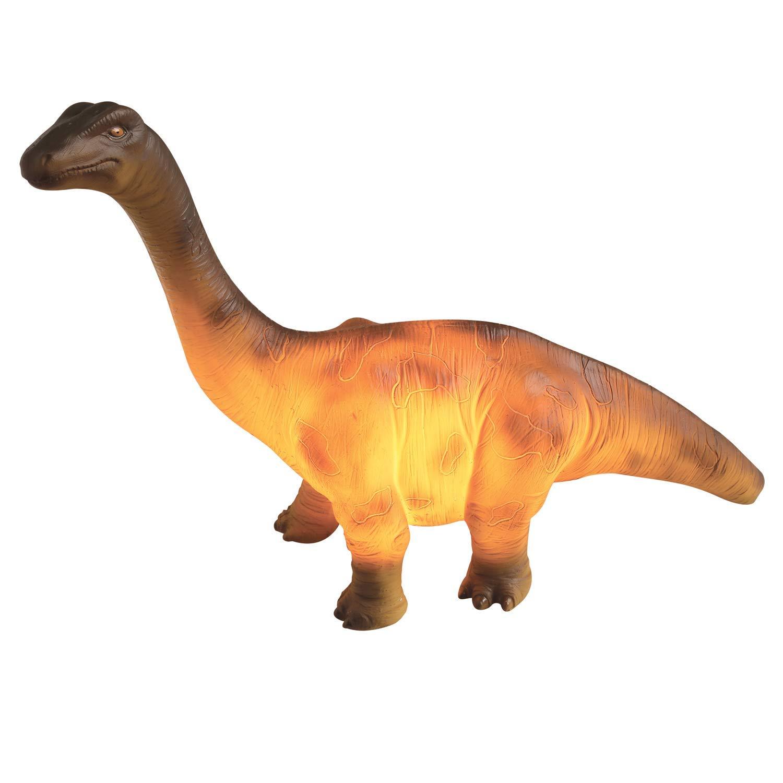 "Dinosaur Resin Table Lamp - Brontosaurus Light - 4""x 13""x 10"""