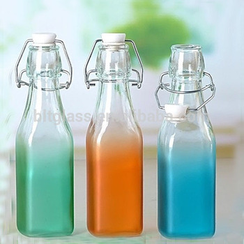 250ML 500ML new design colored beverage glass bottle with swing top for  drinking wholesale free samples c370b0c91d5e