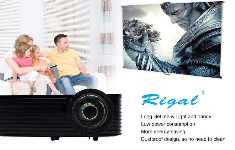 Best selling Used for Home LED Micro DLP Multimedia Home Cinema Movie Theater video projector 1024x768