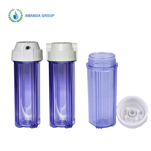 Wholesale 10 inch plastic transparent water filter housing
