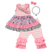 summer wholesale baby girls 2pcs top capri clothes kids cotton clothing sets