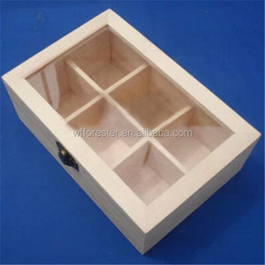 customize make acrylic/wood lid bamboo tea box tea bags raw wood box