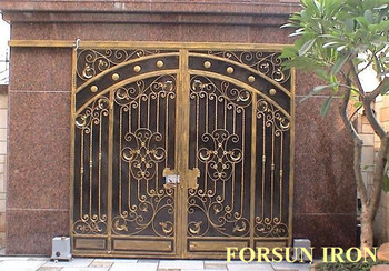 Aluminum house gate designs wrought iron gate models for Single gate designs for homes
