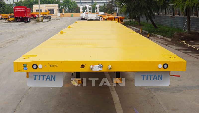 40ft flatbed container trailer with front wall shipping container transport trailer container flatbed trailer for sales