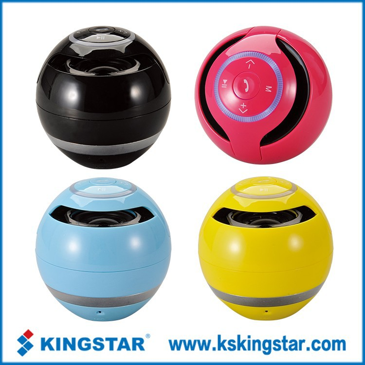 Portable color ball mini bluetooth BT speaker for mp3 music player