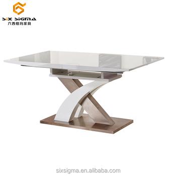 Modern Rectangular Wooden Mdf Extendable Glass Dining Table Designs Buy Modern Rectangular Dining Table Wooden Mdf Extendable Dining Table Design Glass Dining Table Designs Product On Alibaba Com