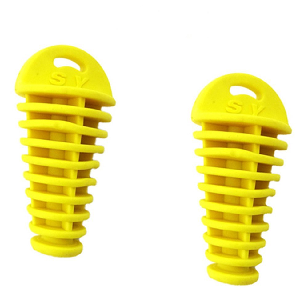 TC-Motor 2pcs/pack Yellow Exhaust Muffler Bung Cleaner Wash Plug For Pit Dirt Bike Motorcycle Motocross Snowmobile UTV ATV Quad 4 Wheeler