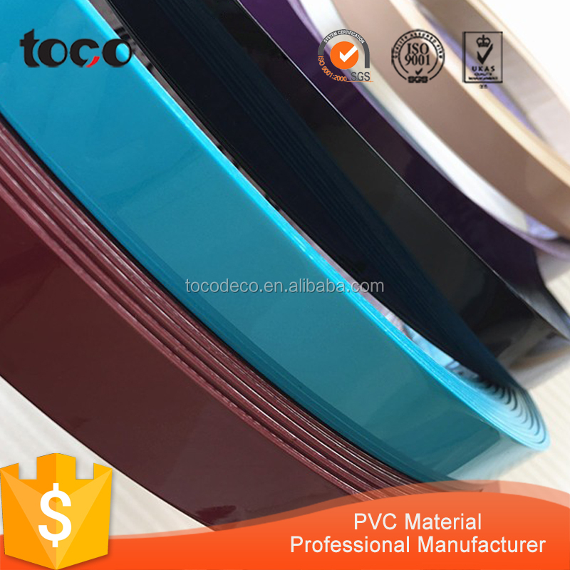 1*48mm borde PVC bandas, decorativo muebles de madera acabado