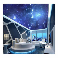 Chinese Customize 3D Interior Decoration Ceiling Mural Wallpaper Design, Luxury PVC Sticker Vinyl Wallpaper Art Mural Painting
