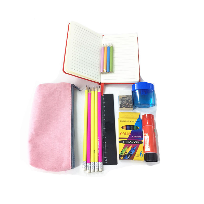 Back to School Kids Plastic Box Wooden Stationery and Kits for Back to School Kit