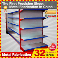 cold roll sheet gondola supermarket shelf with custom service