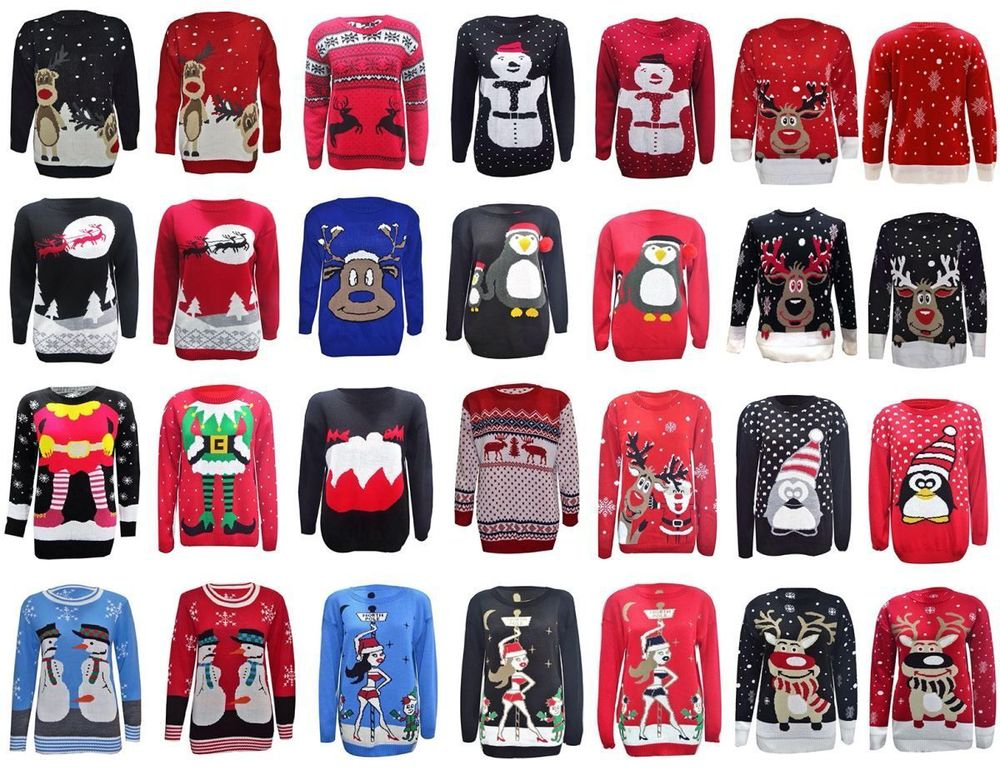 14stc8056 2017-2018 Latest Unisex Christmas Sweater With Led ...