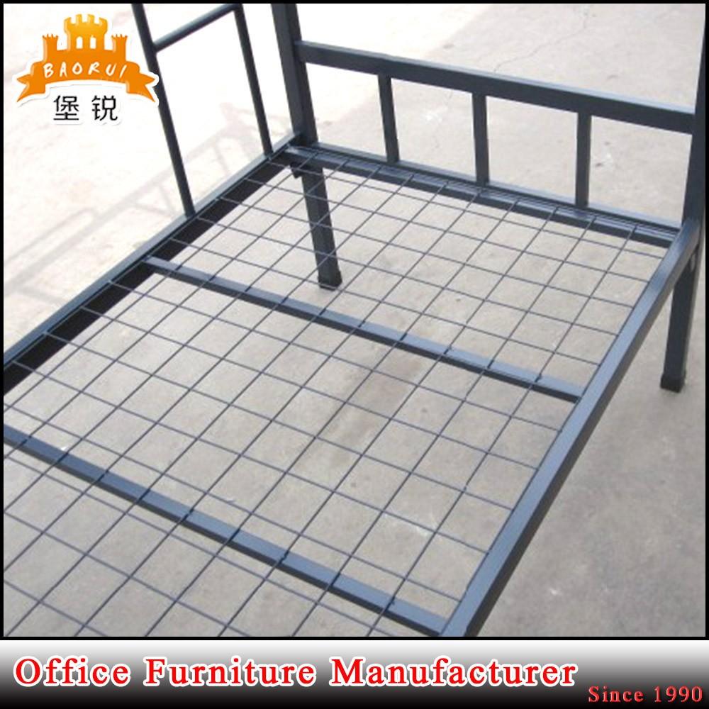 Steel double deck bed - Heavy Duty Steel Double Deck Bed Design Bunk Bed Storage Military Bunk Beds Sale