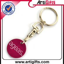 Hot selling norwegian coin keychains with carabiner fitting