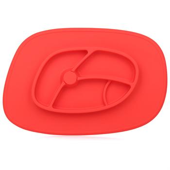 silicone baby divided plates soft baby plate suction than