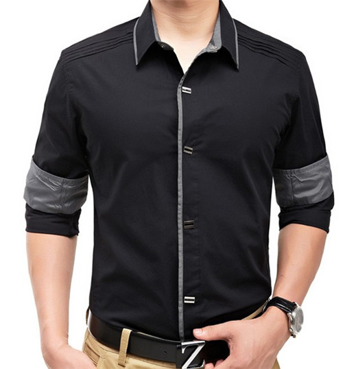 Wholesale Wholesale latest fashion design slim fit mens shirts ...