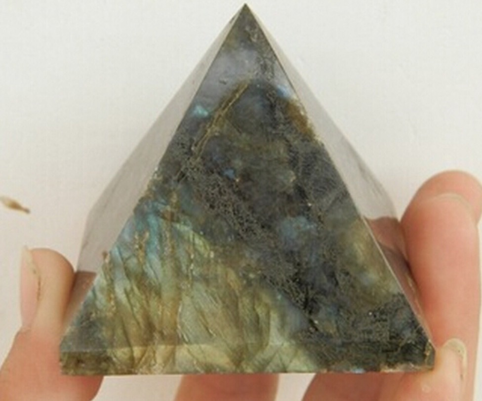 beautiful Natural labradorite QUARTZ CRYSTAL pyramid Moonstone Pyramid  HEALING 28mm-35mm Wholesale