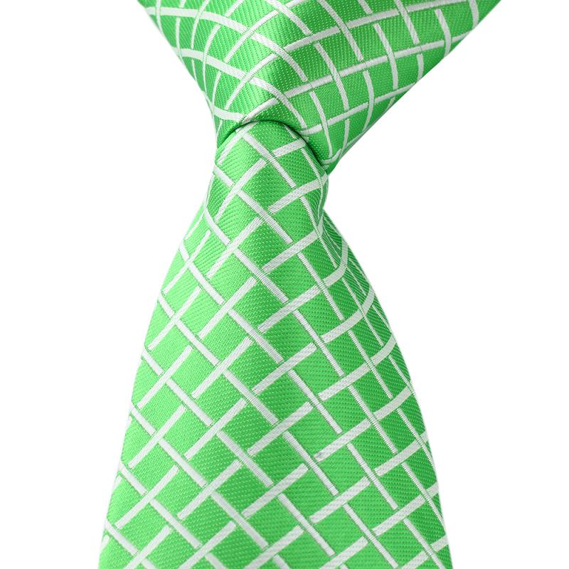 66fd6f06c3d Get Quotations · New Grid Pattern Green Silk Jacquard Men Adult Leisure  Necktie Wedding novelty polyester ties apparel accessories