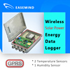 Wireless Solar Power Energy Data Logger temperature humidity control unit