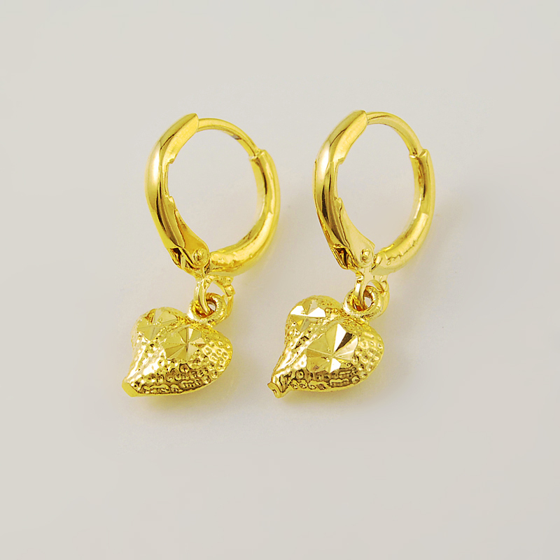 2015 New Design High Quality 24K Yellow Gold Plated Heart ...