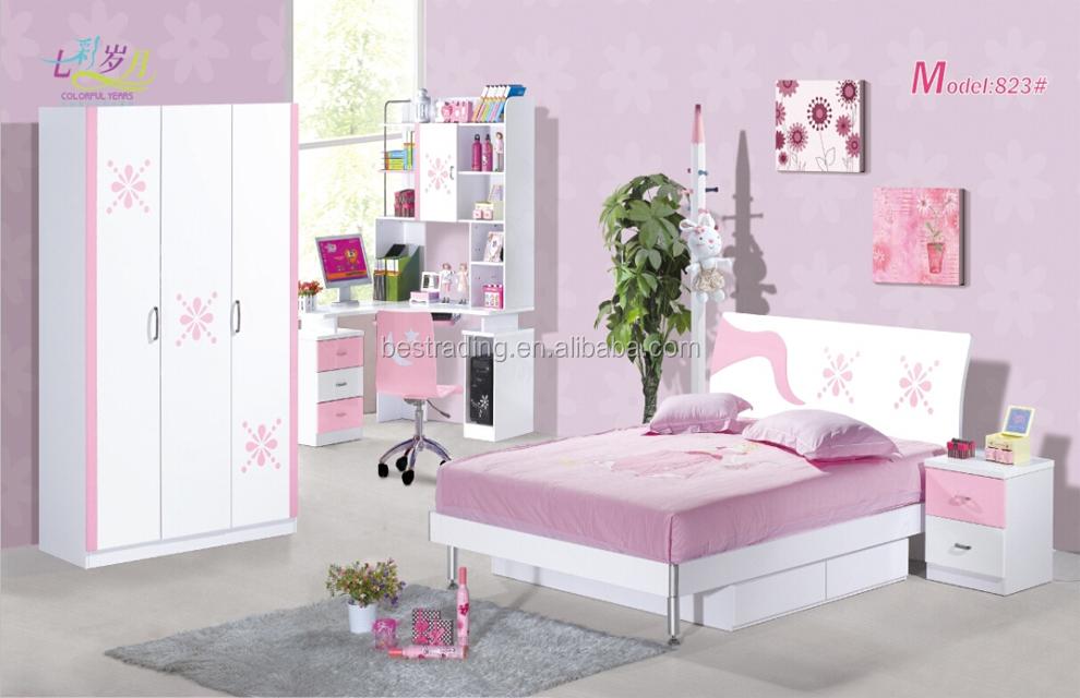 Wholesale wholesale mdf kids bedroom set girls double bed sets