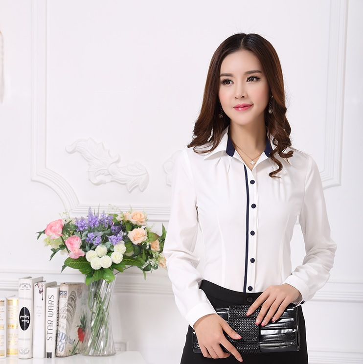 12ecf9c14f4e0 Buy Spring Autumn High Fashion White Women Shirts Blouses Office Lady  Olshirts Womens Work Blouses Plus Size S-XL Cotton Linen Tops in Cheap  Price on ...