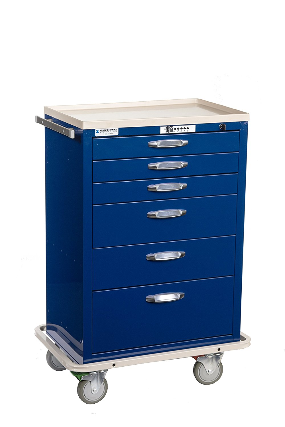 detailed look b9eec 41227 Blue Bell Medical 89035 BAC-30, Standard Supply Cart, CPB Lock ,Professional