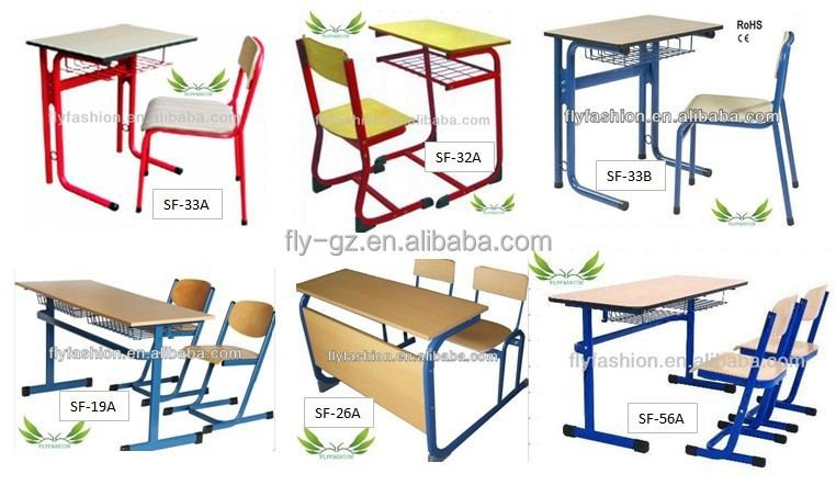 Height Adjustable Single Modern School Desk And Chair / School ...