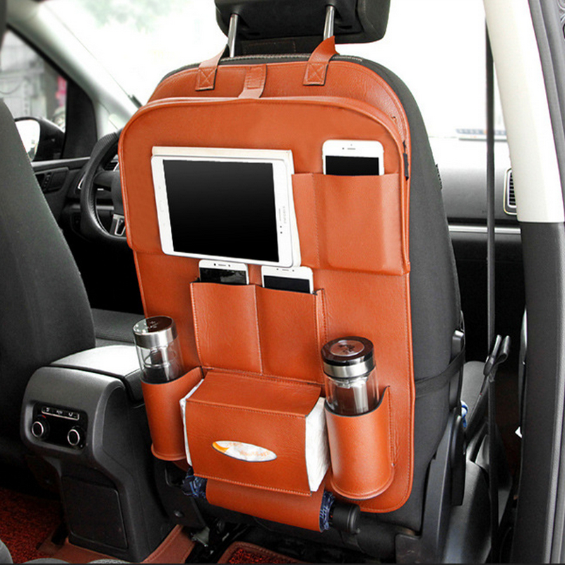 car interior accessories back seat organizer with tray/car organizer
