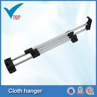 Wardrobe steel sliding clothes hanging rack trousers rack