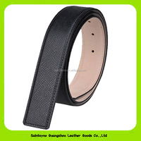 Italian Designer Guangzhou Factory Wholesale Real Leather Belt Without Buckle 16261