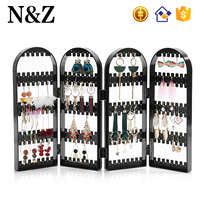 NZ A233 Black Plastic Jewelry Organizer Earring Display Stand Acrylic Jewelry Display