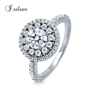 Wholesale 925 silver big round emerald color aaa cubic zirconia solitaire ring R500342